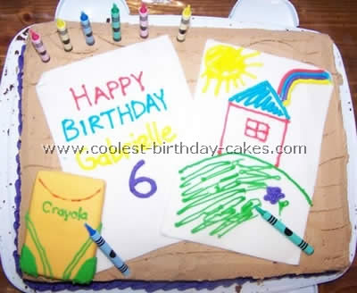 Crayon Kid Cake