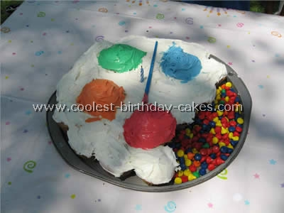 Artist Palette Kid Birthday Cake