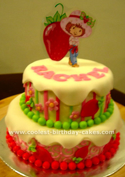 Strawberry Shortcake Kids Birthday Cake Idea