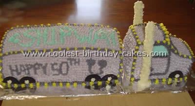 Semi-Trailer Cake Photo