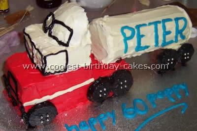 Coolest Semi Trailer Kids Cake Ideas