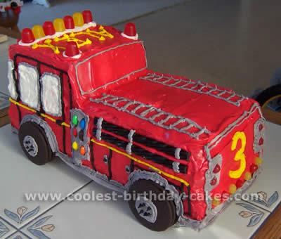 Fire Truck Cake Photo