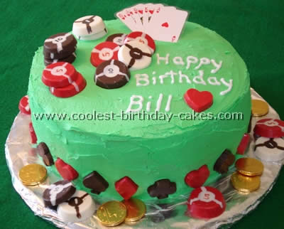 Card And Poker Shaped Las Vegas Cakes