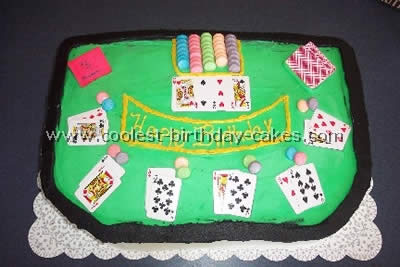 Card and Poker-Shaped Las Vegas Cakes