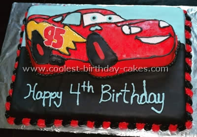Incredible Coolest Lightning Mcqueen Cake Photos And Tips Funny Birthday Cards Online Overcheapnameinfo