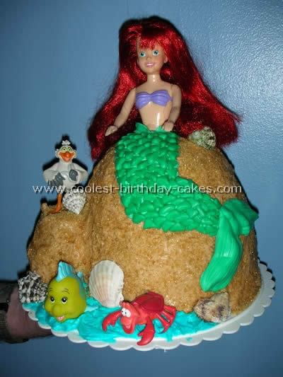 Little Mermaid Birthday Cake Photo