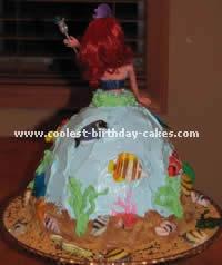Little Mermaid Birthday Cake Photo