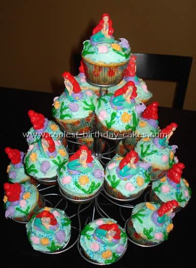 Astonishing Coolest Little Mermaid Birthday Cakes Personalised Birthday Cards Beptaeletsinfo