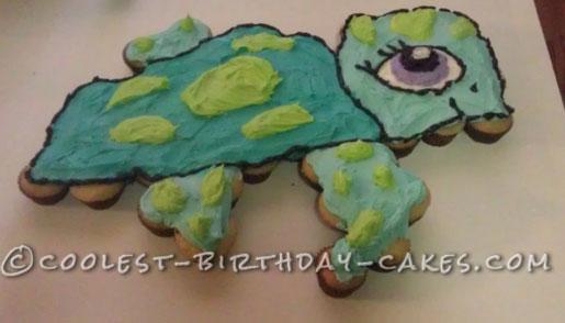 Littlest Pet Shop Sea Turtle Cupcake Cake
