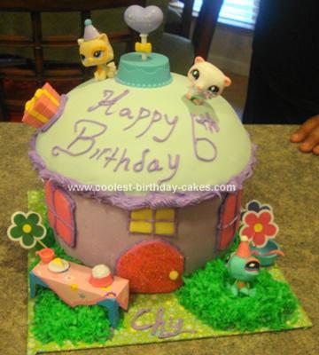 Coolest Littlest Petshop House Birthday Cake