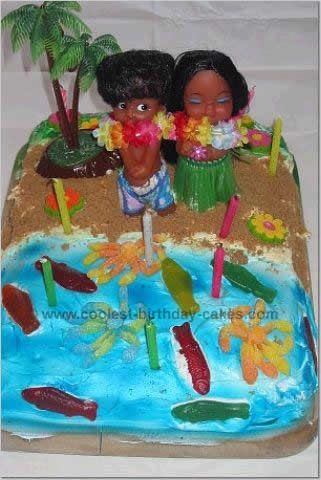 Magnificent Coolest Luau Party Cakes Personalised Birthday Cards Cominlily Jamesorg