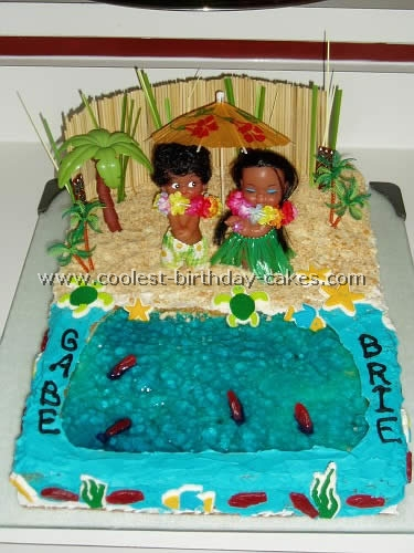 Awesome Coolest Luau Party Cakes Personalised Birthday Cards Cominlily Jamesorg