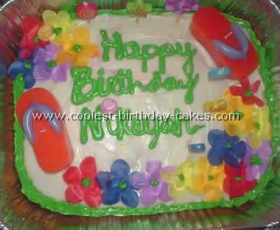 Luau Party Cake