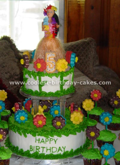 Phenomenal Coolest Homemade Hula Girl Cakes Funny Birthday Cards Online Inifodamsfinfo