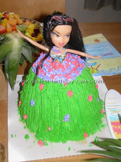 Strange Coolest Cakes For A Luau Party Idea Funny Birthday Cards Online Aeocydamsfinfo