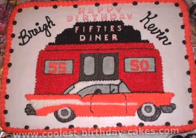 Awe Inspiring Coolest Homemade 50S Theme Cakes Funny Birthday Cards Online Necthendildamsfinfo