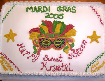 Terrific Coolest Homemade Mardi Gras Cakes Funny Birthday Cards Online Alyptdamsfinfo