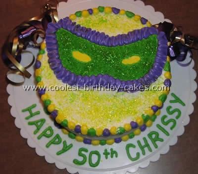 Mardi Gras Special Occasion Cake