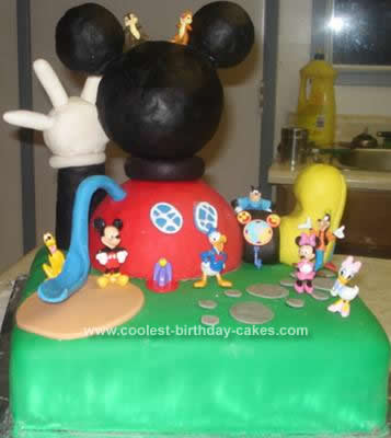 Super Coolest Mickey Mouse Clubhouse Birthday Cake Funny Birthday Cards Online Overcheapnameinfo