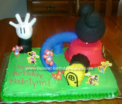Admirable Coolest Mickey Mouse Clubhouse Cake Funny Birthday Cards Online Hendilapandamsfinfo
