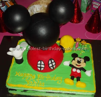 Mickey Mouse Picture Cake