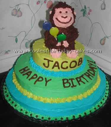 Peachy Coolest Monkey Birthday Cake Ideas And Decorating Techniques Personalised Birthday Cards Xaembasilily Jamesorg