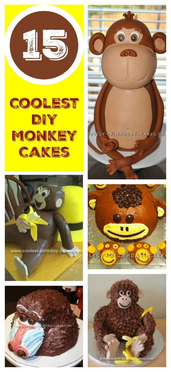 Cool 15 Cool Diy Monkey Cake Designs For The Birthday Cake Enthusiast Funny Birthday Cards Online Alyptdamsfinfo