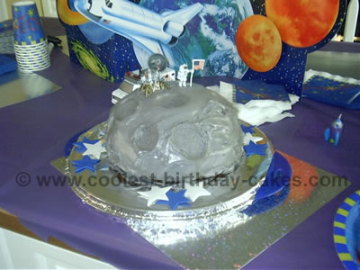 Super Coolest Moon Cake Ideas And Photos Personalised Birthday Cards Cominlily Jamesorg