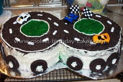 NASCAR Birthday Cake