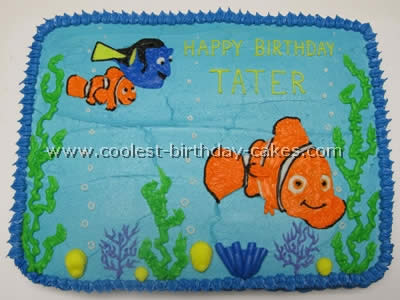 Outstanding Coolest Finding Nemo Cake Photos And How To Tips Funny Birthday Cards Online Inifodamsfinfo