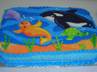 Swell Coolest Homemade Under The Sea Scene Cakes Funny Birthday Cards Online Aeocydamsfinfo
