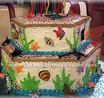 Pleasing Coolest Ocean Cake Ideas And Photos Birthday Cards Printable Trancafe Filternl