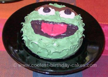 Oscar the Grouch Birthday Cake Photo