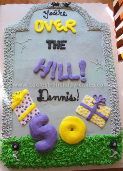 Enjoyable Coolest Homemade Over The Hill Cakes Personalised Birthday Cards Beptaeletsinfo