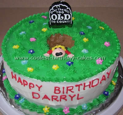 Pleasing Coolest Homemade Over The Hill Cakes Funny Birthday Cards Online Aeocydamsfinfo
