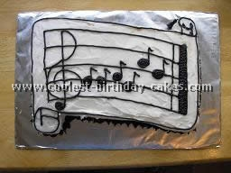 Musical Notes Birthday Party Cake
