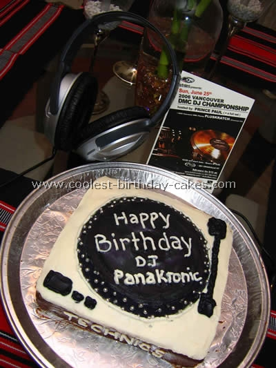 Stupendous Coolest Homemade Turntable Player Cakes Birthday Cards Printable Benkemecafe Filternl