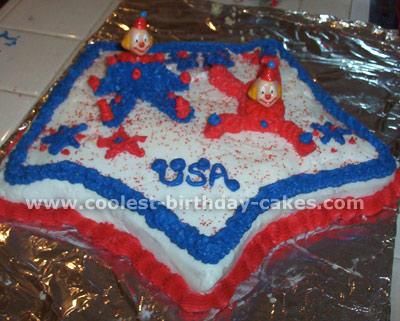 Stars and Stripes Patriotic Cakes