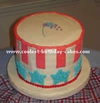 Stars and Stripes Patriotic Cakes