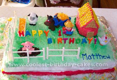 Barnyard Birthday Cake Photo