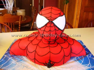 Pictures Of A Spiderman Cake Was Made For Little Three Year Old Boy