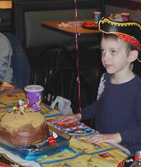 Treasure Island Pirate Birthday Cake