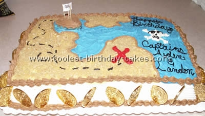 Superb Coolest Pirate Birthday Cakes And How To Tips Personalised Birthday Cards Paralily Jamesorg