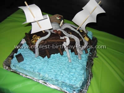 Terrific Coolest Pirate Ship Cake Photos And Tips Funny Birthday Cards Online Aeocydamsfinfo