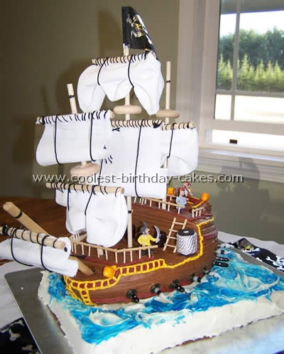 Super Coolest Pirate Ship Cakes Photo Gallery Birthday Cards Printable Riciscafe Filternl