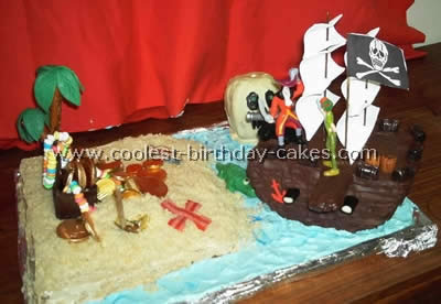 Pleasing 12 Cool And Easy Homemade Treasure Island Pirate Cakes Personalised Birthday Cards Arneslily Jamesorg