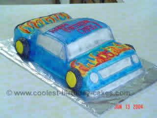 Race Car Cake Photo