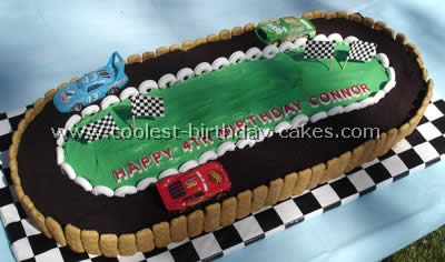 Surprising Coolest Homemade Race Track Cake Ideas And Decorating Techniques Funny Birthday Cards Online Aboleapandamsfinfo