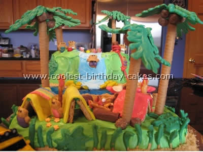 Marvelous Coolest Jungle And Safari Cake Ideas Funny Birthday Cards Online Chimdamsfinfo