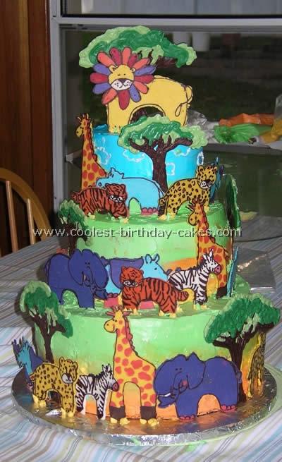 Jungle and Safari Cake
